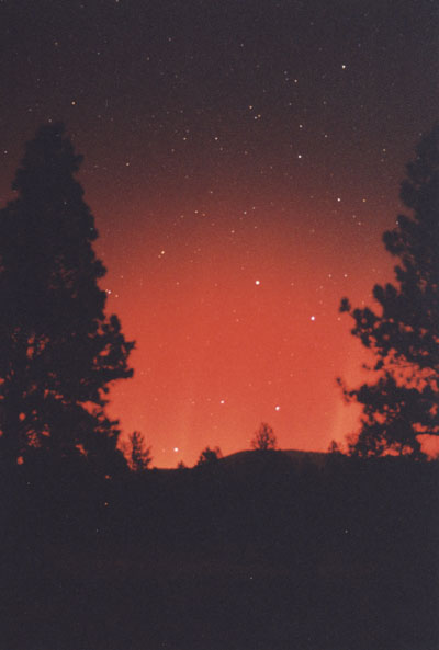 The aurora splashes the Dipper: 1:45 am MST
