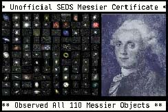 SEDS Messier Observing Certificate
